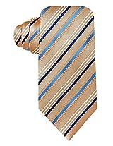 Geoffrey Beene Satin Stripe Tie (One Size, Taupe/Blue)