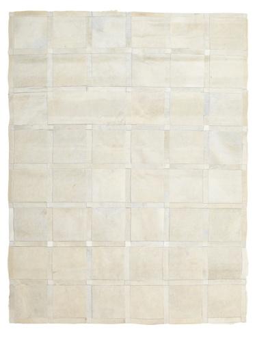 Hide Rug White Squares, 4' x 6'