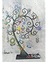 Bali Mantra Tree of Life Inverted Jewelry Holder (Multicolor)