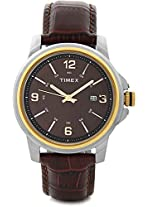 Timex Analog Watch - For Men Brown-G804