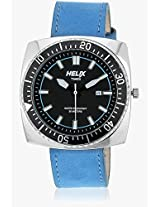 09Hg03 Blue/Black Analog Watch Helix