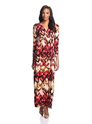 Melissa Masse Women's Long Sleeve Maxi Dress (Black Champagne Swag)