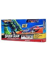 Hot Wheels Spider Slam Track Set, Multi Color