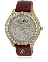 H Ph13577Jsg/04B Red/Silver Analog Watch Paris Hilton