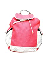 Easyhome Brand College/Corporate Girls Fashionable Pink Color Backpack (37 cm)