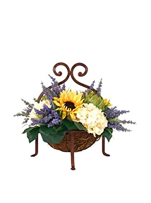 Creative Displays Sunflower, Hydrangea & Artichoke Basket
