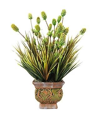 Creative Displays Thistle Grass Planter, Green/Brown