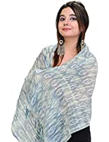 Exotic India Womens Cotton Scarves ,Blue ,Free Size