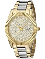 Oniss Paris Women's ON6020N-LG Galaxy Collection Analog Display Swiss Quartz Gold Watch