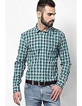 Green Striped Casual Shirt John Players