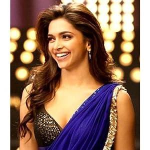 Deepika bollywood replica blue chiffon saree by adiva rv029