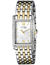 Caravelle by Bulova Crystal Analog Champagne Dial Women's Watch - 45L138