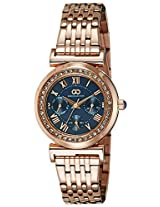 Gio Collection Analog Blue Dial Women's Watch - G2015-44