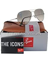 Ray-ban rb3025 003/32 silver gradient grey size:58 sunglasses