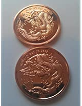 1 Ounce Copper Year of the Dragon Coins-2 Pack