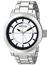 Kenneth Cole Reaction Unisex Rk3252 Street Collection Silver Ion-Plated Watch With Link Bracelet - Rk3252