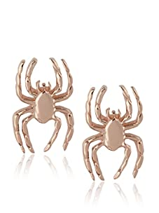 Catherine Angiel Rose Gold Spider Stud Earrings