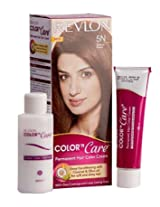 Revlon Color 'N Care - Medium Brown 5N (Hair color cream 40g, Cream Developer 60ml, Color protection conditioner 7.5ml)