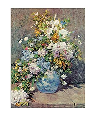 Artopweb Panel Decorativo Renoir Spring Flowers 80x60 cm Bordo Nero