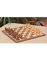 Chessbazaar Combo Of Bridle Series Chess Pieces & Walnut Maple Board