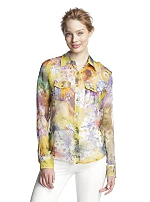 Craig Taylor Women's Meurice The Fleuriste Top (Chartreuse/Multi Color)