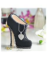 @home by Nilkamal Black Beauty Jewellery Stand, Blue