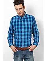 Blue Full Sleeve Casual Shirt Allen Solly