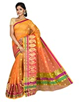 Korni Cotton Silk Banarasi Saree ISL-664- Orange KR0429