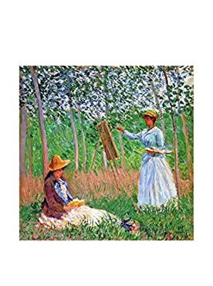 Legendarte Leinwandbild Nel Bosco A Giverny di Claude Monet