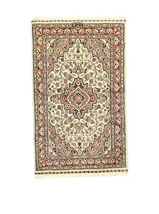 L'Eden del Tappeto Teppich Kashmirian F/Seta braun/mehrfarbig 122t x t75 cm