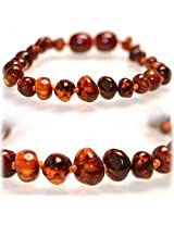 """The Art of CureTM Certifed Baltic Amber Baby Teething (HONEY) Bracelet -w/""""The Art of CureTM"""" Jewelry Pouch (SHIPS AND SOLD IN THE USA)"""