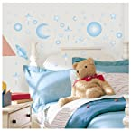 RoomMates RMK1141SCS Celestial Glow in the Dark Peel & Stick Wall Decals