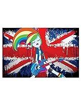 Decor Kafe Rock Music Cartoon Vinyl Poster