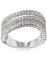 Shaze Ring for Women (Silver) (3 TIER RING SLV 1080:6)