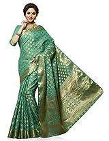 Meghdoot Artificial Tussar Silk Saree (SIYAA_MT1191_RAMA Woven Turqouise Colour Sari)