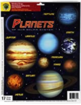 Teaching Tree Educational Window Clings - Reusable Window Decorations (Planets)