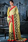 Georgette Saree In Yellow Colour 4015-A