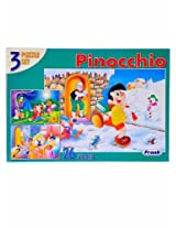 pinocchio 3 puzzles of 26 pieces each