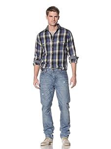 4 Stroke Jean Men's Vanguard Greasy Grass Slim Jean (Light Blue Vintage)