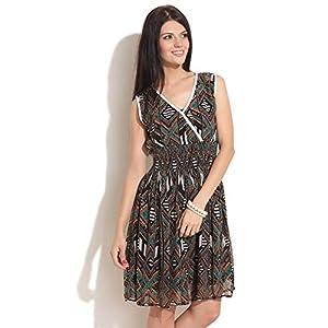Hotberries Tribal Tease Print Dress V-Neck Dress