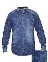 Spykar Dark Blue Casual Shirt