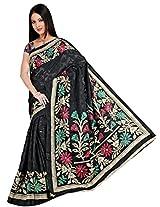 Khushali Fashion Tassar Silk Saree (Cn_Nj1015 _Black)
