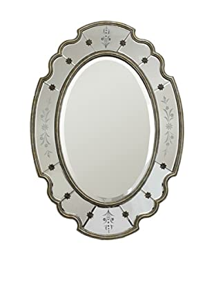 The Import Collection Antiqued Brass Oliver Wall Mirror
