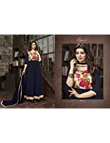 Shree Fashion Woman's Georgette With Dupatta [Shree (21)_Blue]