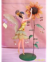 Bali Mantra Fairy with Sunflower Jewelry Holder (Yellow)