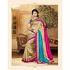 Golden Color Bhagalpuri Designer Silkosa Art Silk Saree Sari