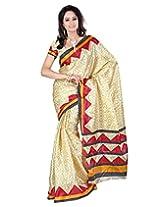 Surat Tex Red Art Silk Wear beautiful sarees Without Blouse Piece