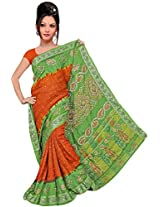 Kala Sanskruti Art Silk Saree (KSA3X-52_ Red and Green)
