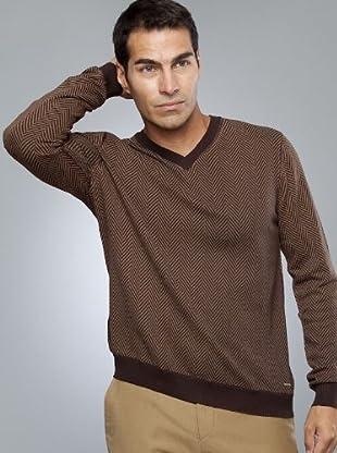 Armand Basi Jersey (marrón claro / chocolate)