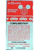 1980s Vintage Walt Disney World Resort Complimentary Car Parking Ticket